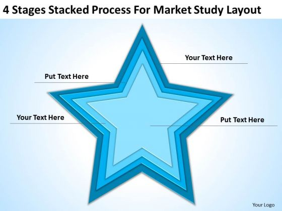 Stages Stacked Process For Market Study Layout Ppt Business Plan PowerPoint Templates