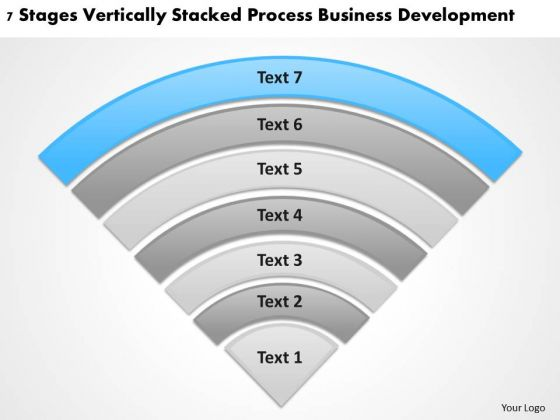 Stages Vertically Stacked Process Business Deveopment Ppt Online Plans PowerPoint Slides