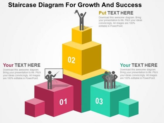Staircase Diagram For Growth And Success PowerPoint Templates