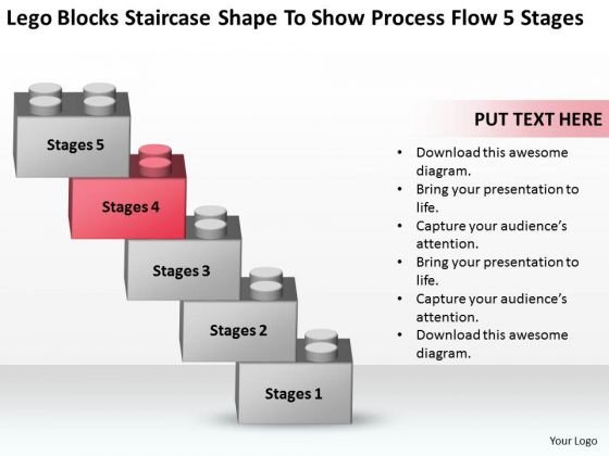 Staircase Shape To Show Process Flow 5 Stages Ppt Online Business Plans PowerPoint Templates