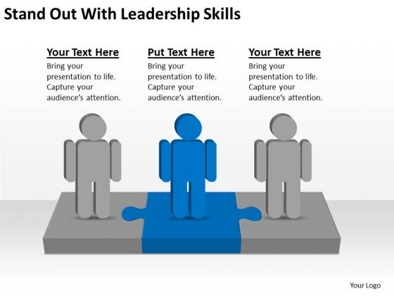 Stand Out With Leadership Skills Ppt Business Plan Templet PowerPoint Templates