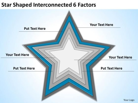 star_shaped_interconnected_6_factors_ppt_business_plan_consultant_powerpoint_slides_1