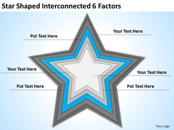 star_shaped_interconnected_6_factors_ppt_business_plan_outline_powerpoint_templates_1