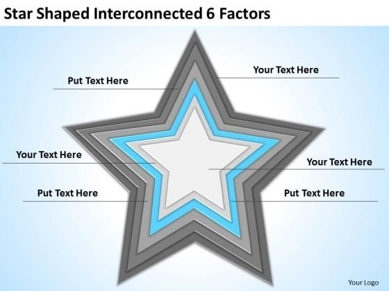 Star Shaped Interconnected 6 Factors Ppt Business Planning Tools PowerPoint Slides