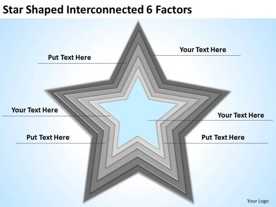 Star Shaped Interconnected 6 Factors Ppt How Do Business Plan PowerPoint Templates