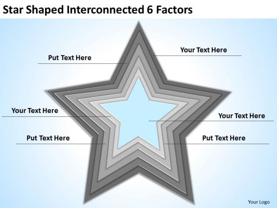 star_shaped_interconnected_6_factors_ppt_how_do_business_plan_powerpoint_templates_1