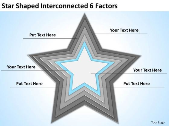 star_shaped_interconnected_6_factors_ppt_making_business_plan_template_powerpoint_templates_1