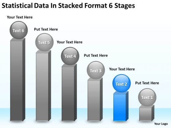 Statisctical Data In Stacked Format 6 Stages Create Business Plan PowerPoint Slides