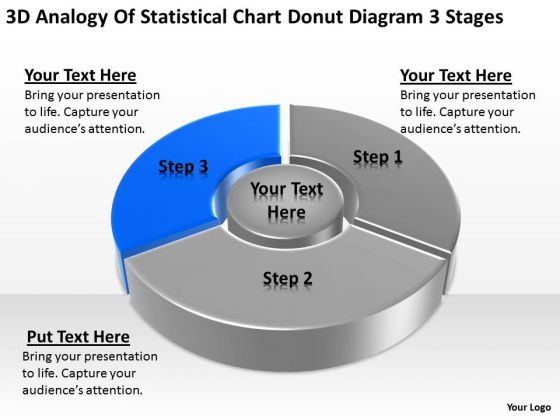 Statistical Chart Donut Diagram  Stages Ppt Samples Business Plan