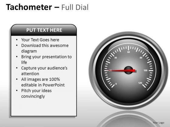 Status Tachometer Full Dial PowerPoint Slides And Ppt Diagram Templates