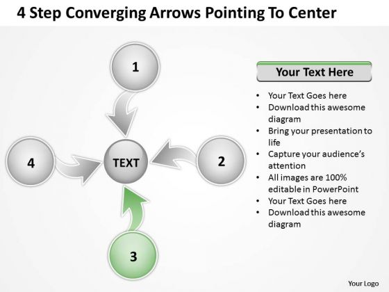 Step Converging Arrows Poiting To Center Ppt Relative Circular Process PowerPoint Templates