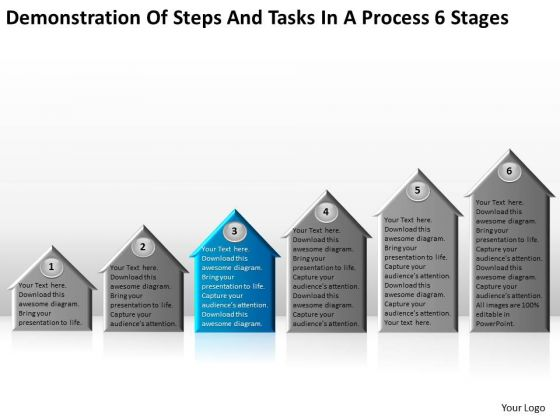 Steps And Tasks In Process 6 Stages Making Business Plan Template PowerPoint Templates