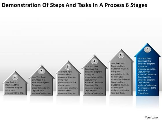 Steps And Tasks In Process 6 Stages Ppt Free Small Business Plan PowerPoint Slides