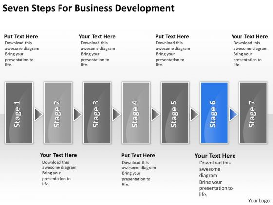 Steps For Business PowerPoint Theme Development Ppt 6 Plan Spa Slides