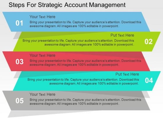 Steps For Strategic Account Management PowerPoint Templates