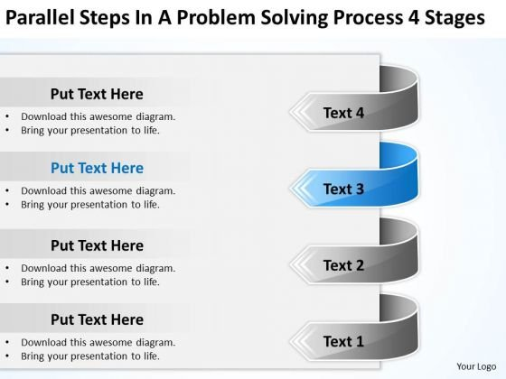 Steps In A Problem Solving Process 4 Stages Successful Business Plan PowerPoint Slides