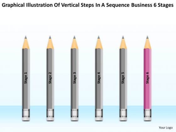 Steps In A Sequence Business 6 Stages Ppt Sample Plan Format PowerPoint Templates