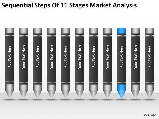 Steps Of 11 Stages Market Analysis Example Business Plan Outline PowerPoint Templates