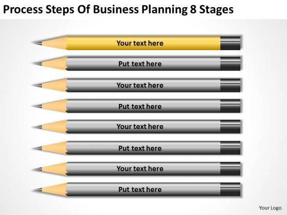 Steps Of Business Planning 8 Stages Continuity Sample PowerPoint Slides