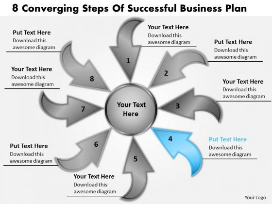 Steps Of Successful Business PowerPoint Theme Plan Cycle Spoke Process Slides