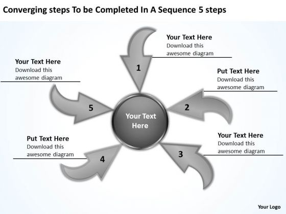 Steps To Be Completed In A Sequence 5 Circular Flow Network PowerPoint Slides