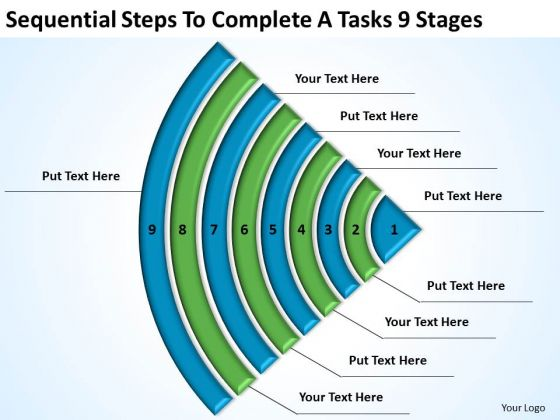 Steps To Complete A Tasks 9 Stages Template For Business Plan PowerPoint Templates