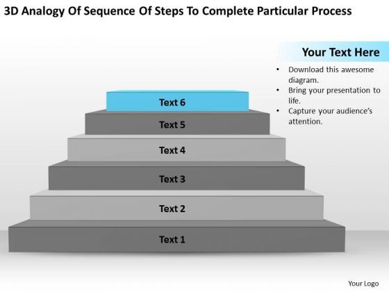 Steps To Complete Particular Process Ppt What Business Plan Looks Like PowerPoint Templates