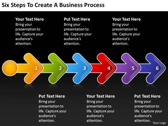 Steps To Create Business PowerPoint Presentation Process Flowchart Slides