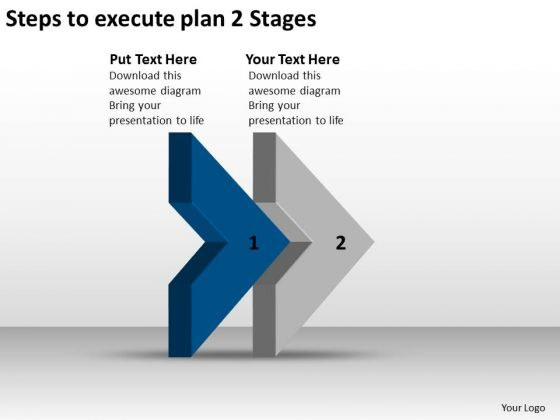 Steps To Execute Plan 2 Stages Embroidery Business PowerPoint Templates