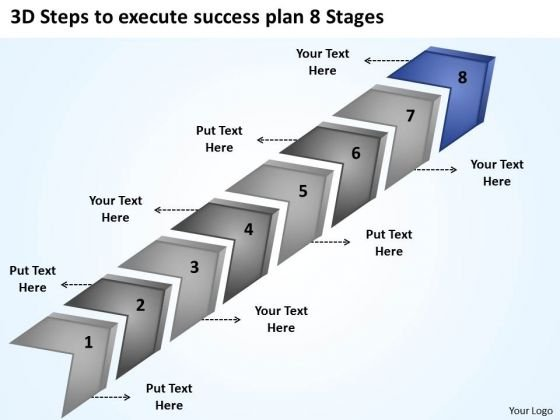 Steps To Execute Success Plan 8 Stages Ppt Business For Restaurant PowerPoint Templates