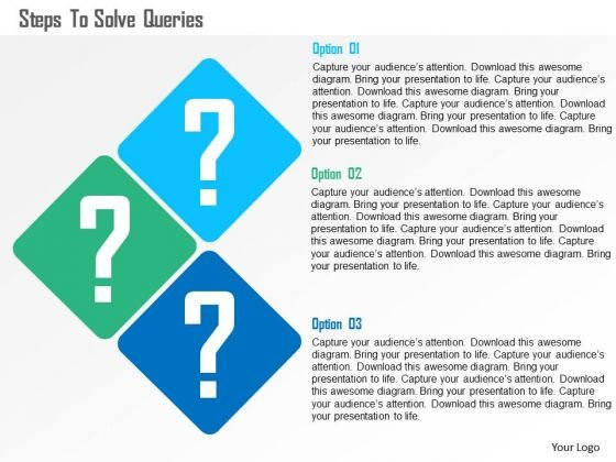 Steps To Solve Queries Presentation Template