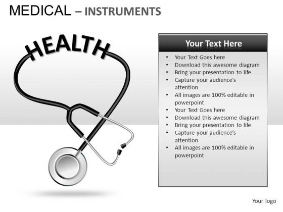 Stethoscope Medical Instrument PowerPoint Slides And Ppt Diagram Templates