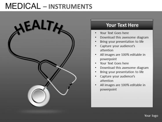 Stethoscope Medical PowerPoint Templates Stethoscope Health Ppt Slides