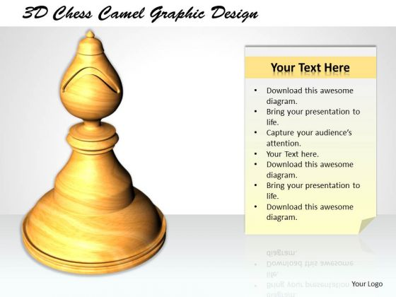 Stock Photo 3d Chess Camel Graphic Design PowerPoint Template