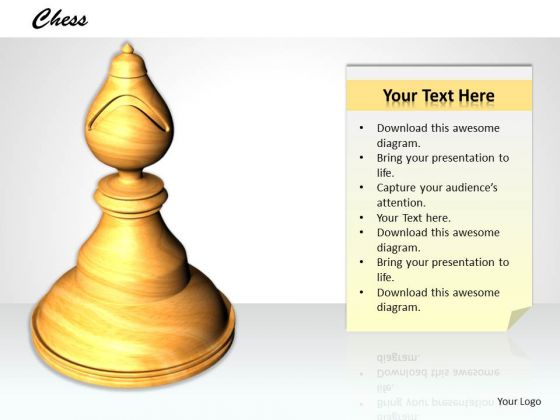Stock Photo 3d Chess Camel Pawn Game PowerPoint Slide