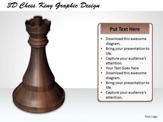 Stock Photo 3d Chess King Graphic Design PowerPoint Template