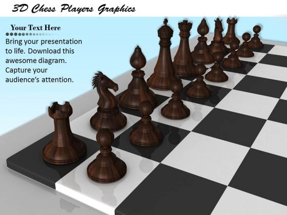 Stock Photo 3d Chess Players Graphics PowerPoint Template