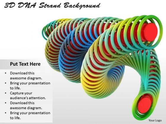 Stock Photo 3d Dna Strand Background Ppt Template