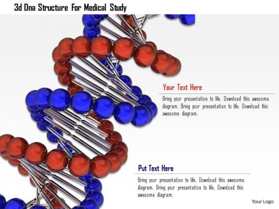 Stock Photo 3d Dna Structure For Medical Study PowerPoint Slide