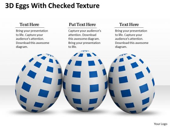 Stock Photo 3d Eggs With Cheeked Texture PowerPoint Slide