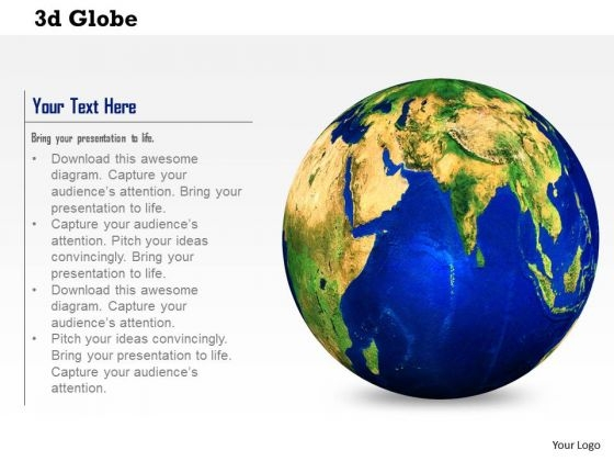 Stock Photo 3d Globe For Global Business Concept PowerPoint Slide