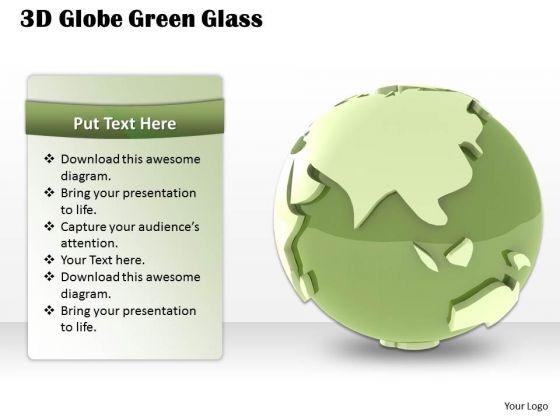 Stock Photo 3d Globe Green Glass PowerPoint Slide