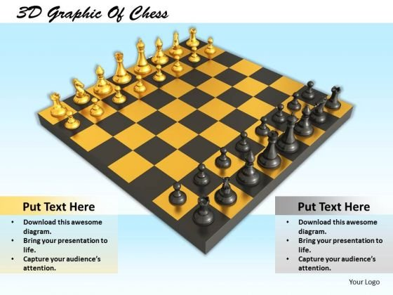 Stock Photo 3d Graphic Of Chess PowerPoint Template