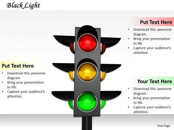 Stock Photo 3d Graphic Of Traffic Signals PowerPoint Slide