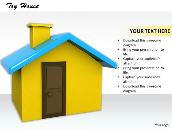 Stock Photo 3d House Model On White Background PowerPoint Slide