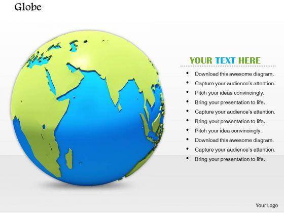 Stock Photo 3d Illustration Of Globe Earth PowerPoint Slide