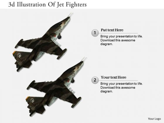 Stock Photo 3d Illustration Of Jet Fighters PowerPoint Slide