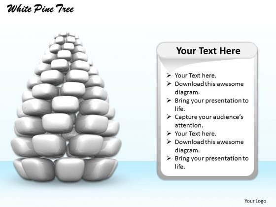 Stock Photo 3d Image Of Grey Pine Tree PowerPoint Slide
