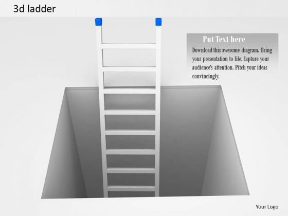 Stock Photo 3d Ladder Coming Out Of Box PowerPoint Slide