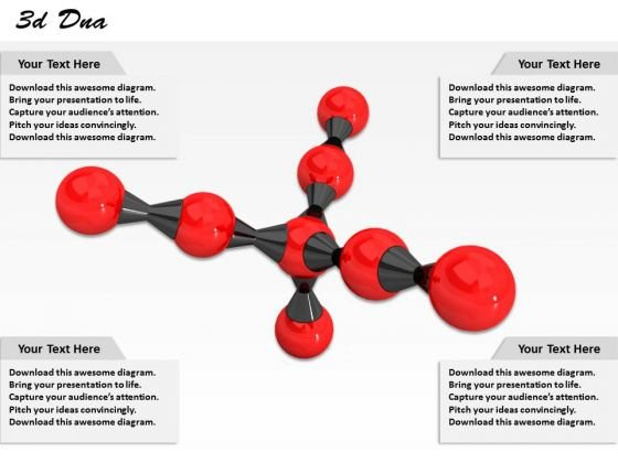 Stock Photo 3d Molecular Design With Red Molecules PowerPoint Slide
